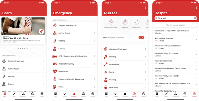First Aid by Red Cross