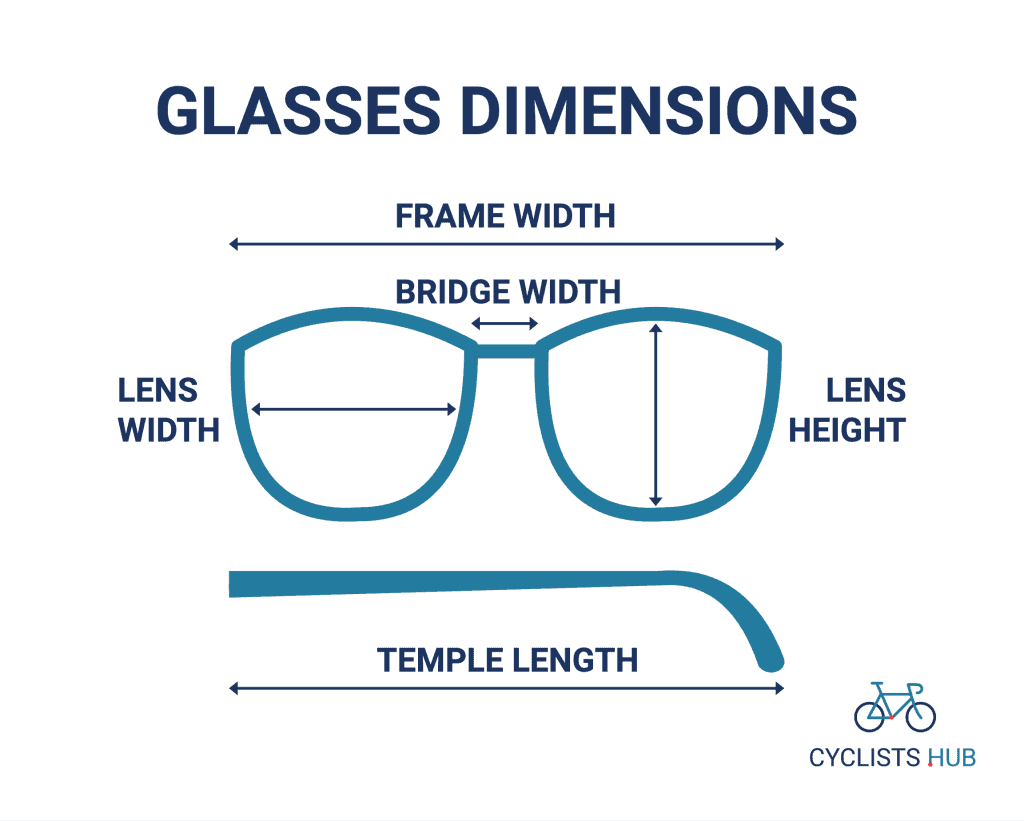 glasses dimensions
