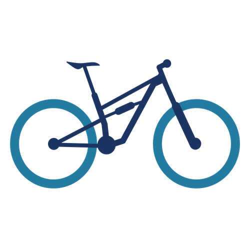 full suspension mountain bike icon