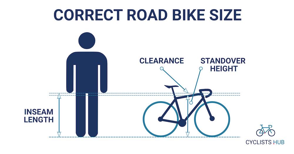 Correct road bike size