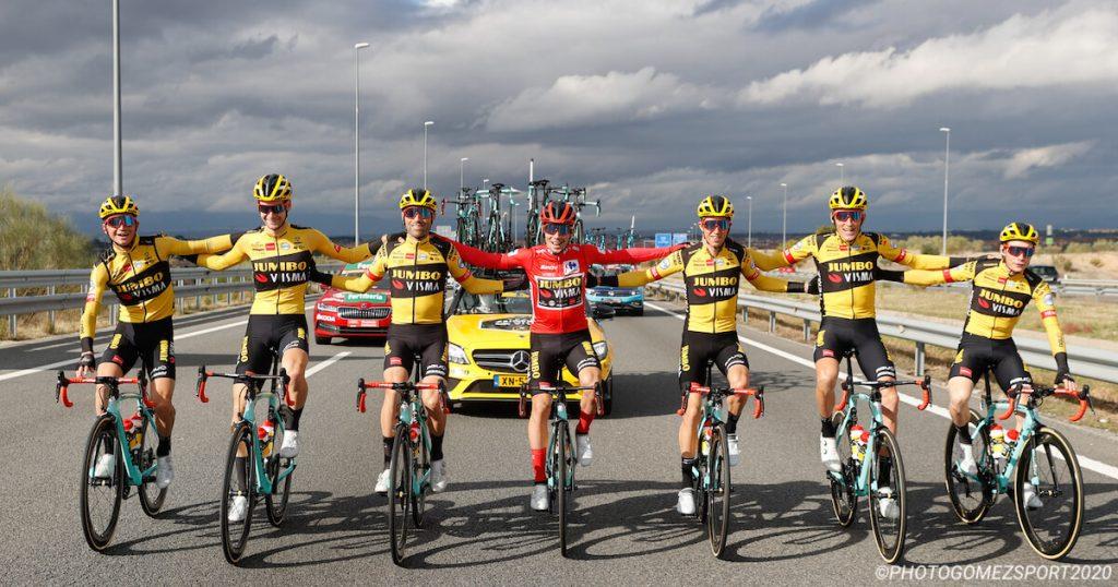 Team Jumbo-Visma at Vuelta a España 2020 - Primož Roglič Winner of the General Classification