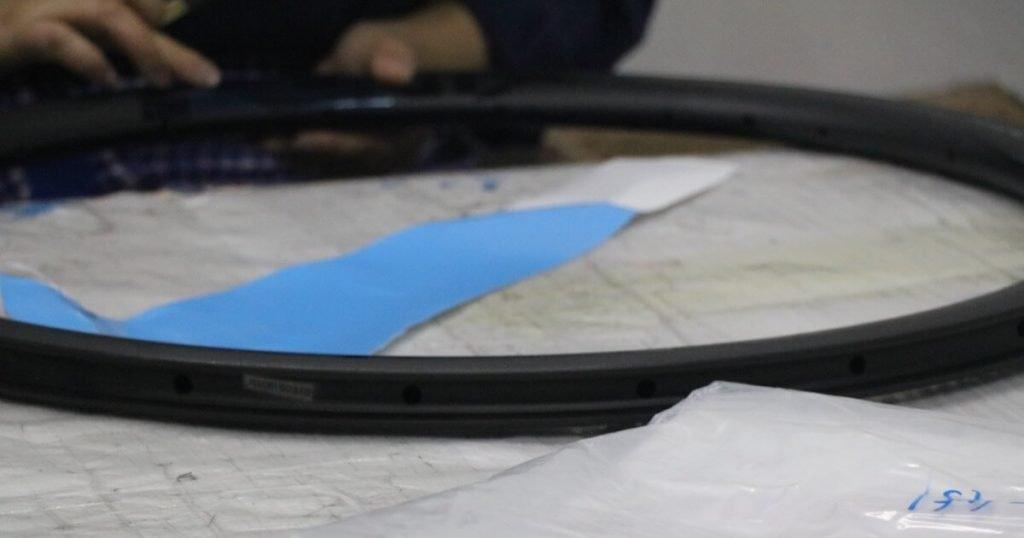 MTB Wheels Rim during assembly