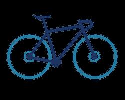 Gravel bike icon