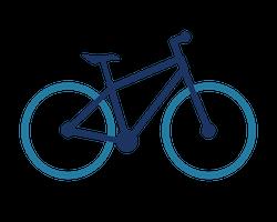 Hybrid bike icon
