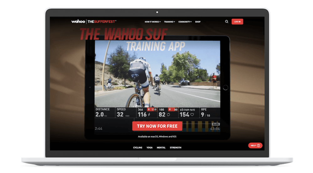 The Sufferfest Indoor Cycling App