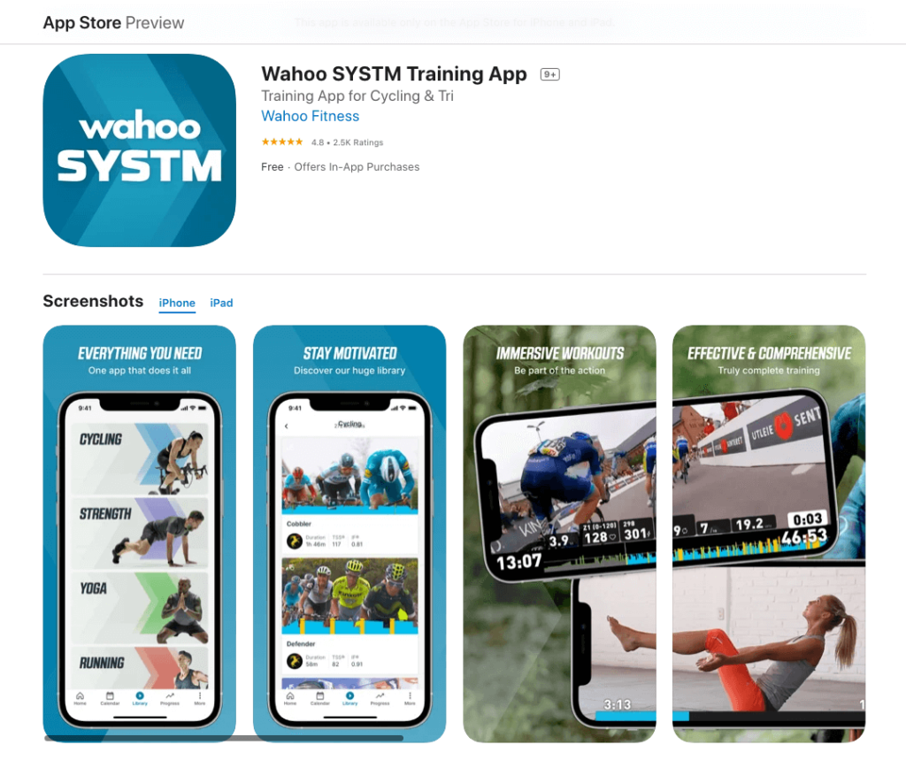 Wahoo SYSTM App Store