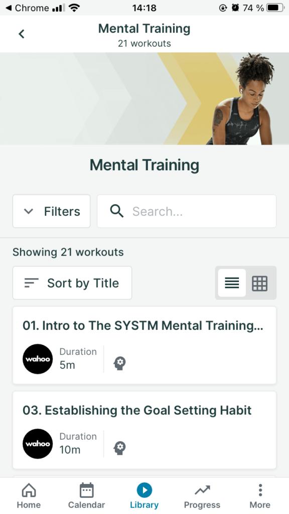 Wahoo SYSTM mental training