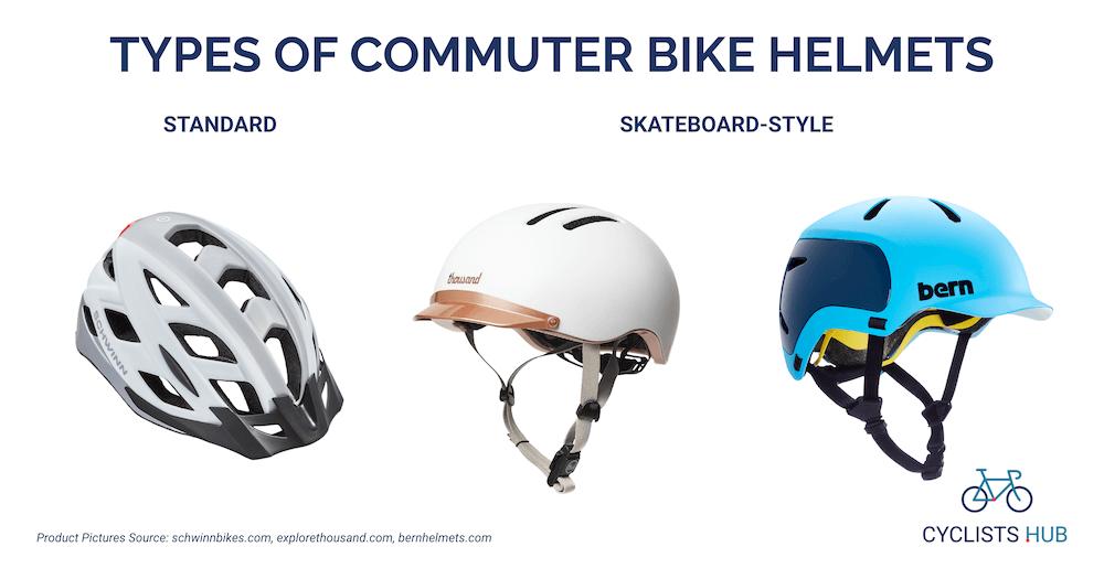 types of commuter bike helmets